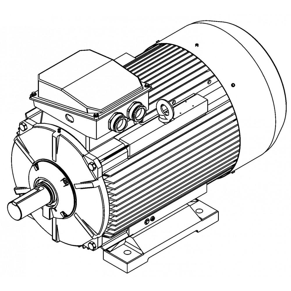 Электродвигатель AMTK112M4 5,5 кВт, 1457 об/мин
