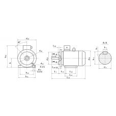 Электродвигатель АИС 112 МА2 4 кВт. 3000 об/мин