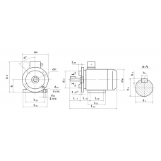 Электродвигатель 6А 80 А2 0,75 кВт. 3000 об/мин
