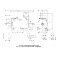Электродвигатель МТКН Ф2П 311-6 2|11|11 кВт. 175|975|1950 об/мин